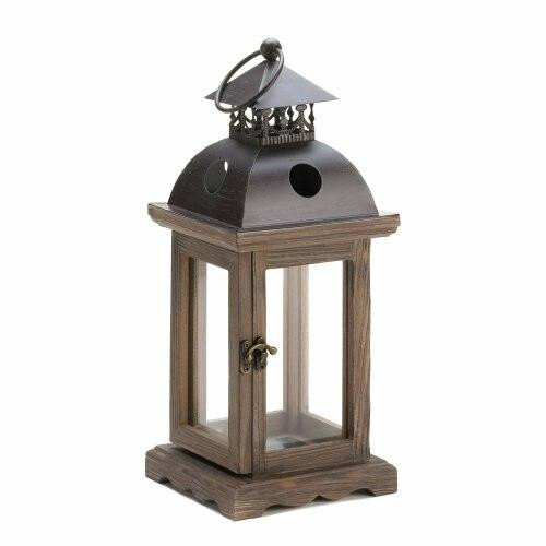 Accent Plus Rustic Wood Lantern