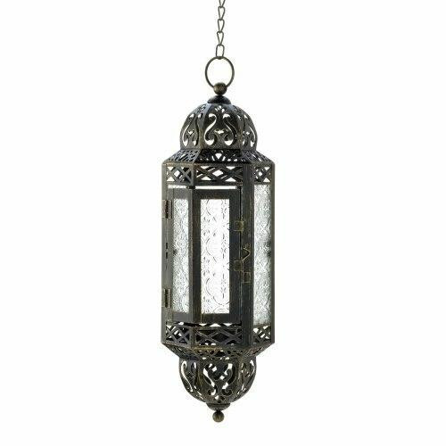 Accent Plus Intricate Hanging Moroccan Lantern