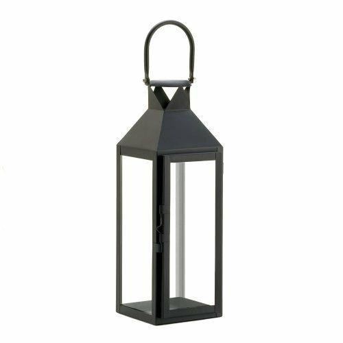 Accent Plus Black Manhatten Lantern