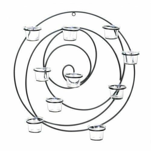 Accent Plus Circular Metal Wall Tealight Candleholder