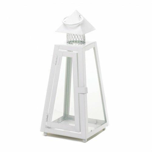 Accent Plus White Coastal Lantern Small