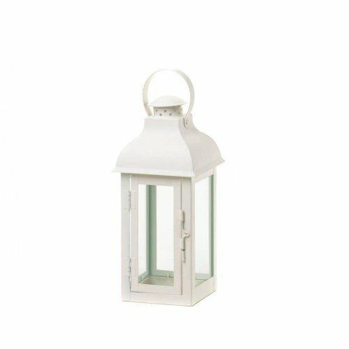 Accent Plus Gable Medium White Lantern