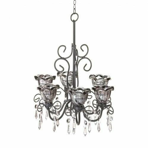 Accent Plus Midnight Blooms Chandelier