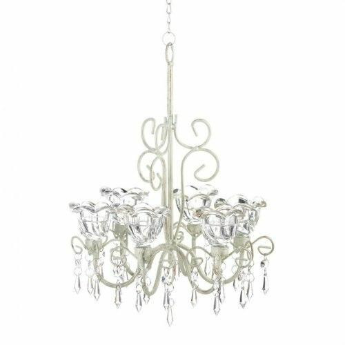 Accent Plus Crystal Blooms Candle Chandelier