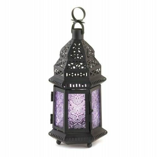 Accent Plus Purple Moroccan Style Lantern