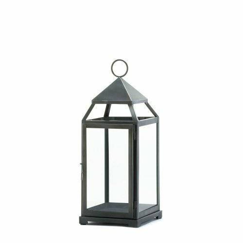 Accent Plus Large Rustic Silver Contemporary Lantern