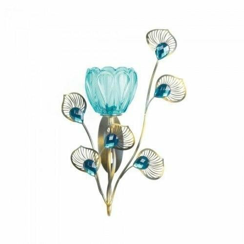 Accent Plus Peacock Blossom Single Sconce
