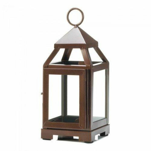Accent Plus Copper Mini Contemporary Lantern