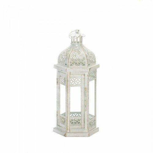 Accent Plus Antique-style Floral Lantern