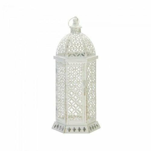 Accent Plus Large Cutwork Hexagon Lantern