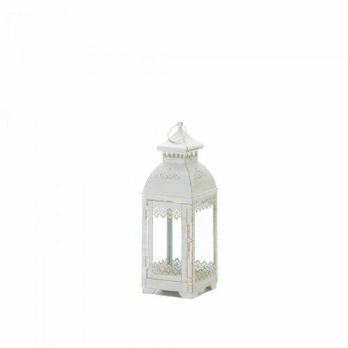 Accent Plus White Lace Victorian Style Lantern