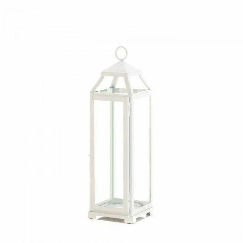 Accent Plus Large Country White Open Top Lantern