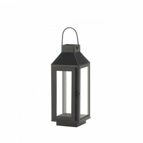 Accent Plus Small Square Top Black Lantern
