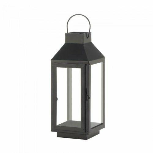 Accent Plus Medium Square Top Black Lantern