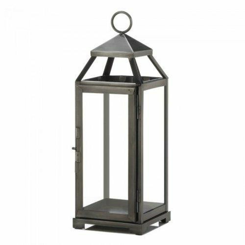Accent Plus Medium Brushed Pewter Lantern