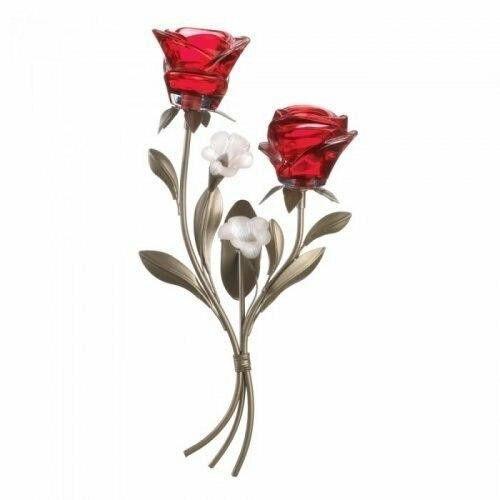 Accent Plus Romantic Roses Wall Sconce