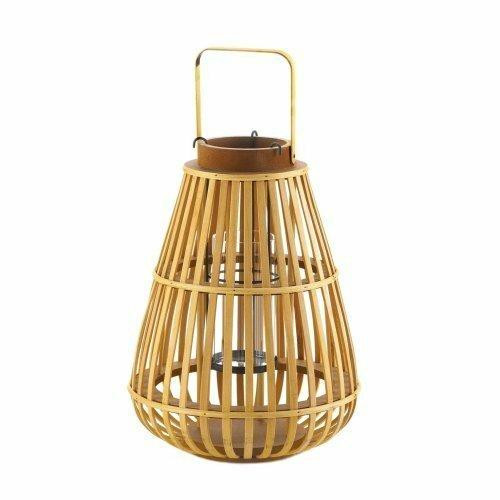 Accent Plus Large Slat Wood Lantern
