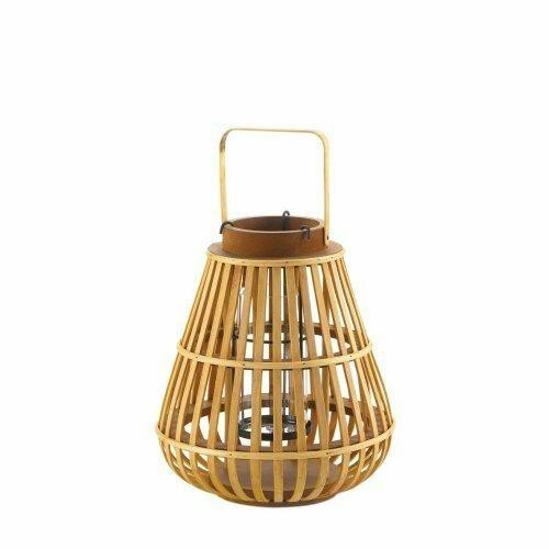 Accent Plus Small Slat Wood Lantern