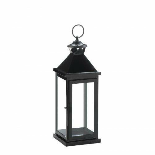 Gallery of Light Medium Glossy Black Lantern