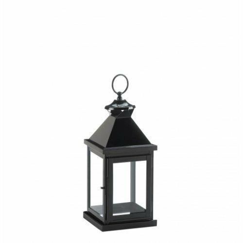 Gallery of Light Small Glossy Black Lantern