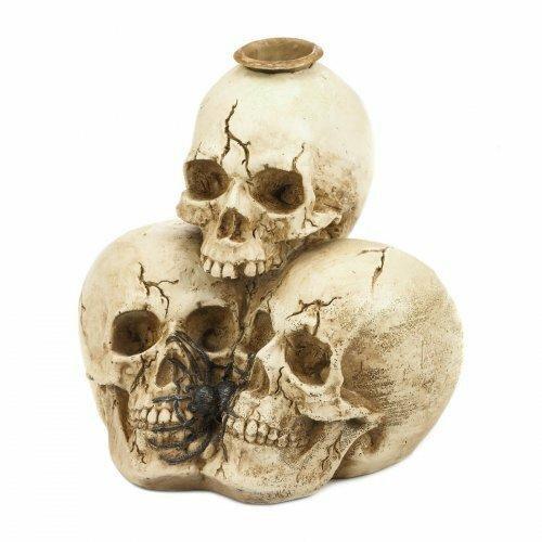 Dragon Crest Triple Skull Candleholder