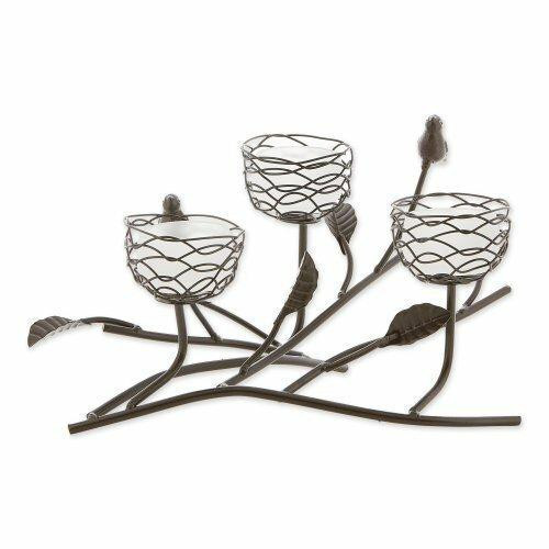 Gallery of Light Triple Tealight Birdies Candleholder