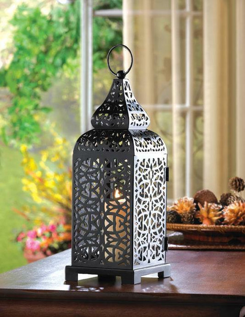 Accent Plus Moroccan Tower Candle Lantern
