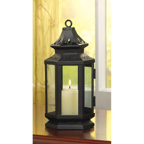 Accent Plus Black Stagecoach Lantern