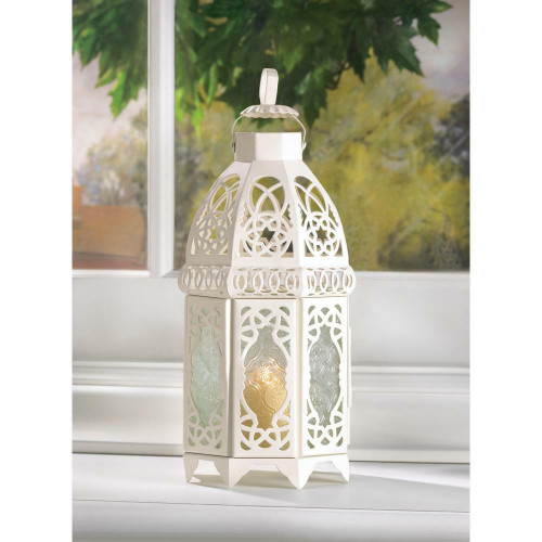 Accent Plus White Lattice Lantern