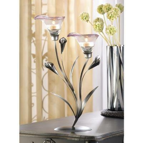 Accent Plus Calla Lily Candleholder