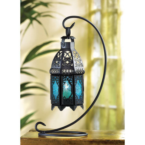 Accent Plus Sapphire Night Hanging Lantern