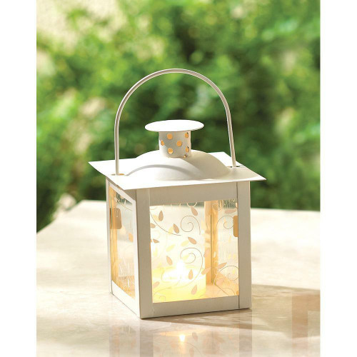 Accent Plus Small White Lantern