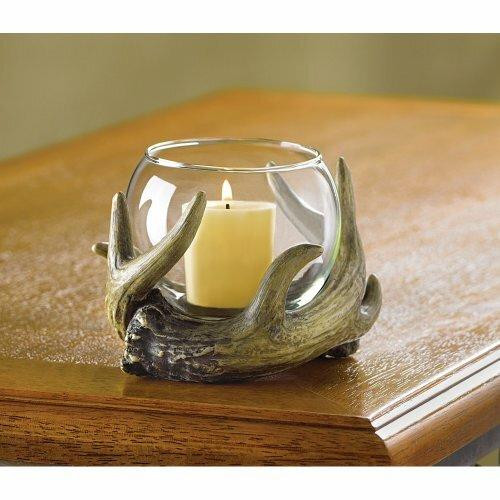 Accent Plus Rustic Antler Candleholder