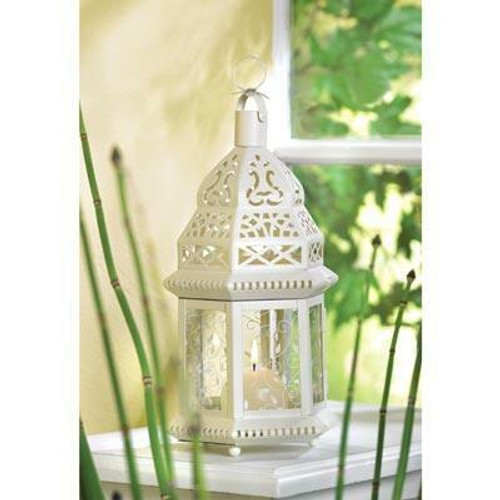 Accent Plus White Moroccan Lantern