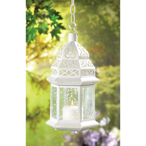 Accent Plus Large White Moroccan Lantern