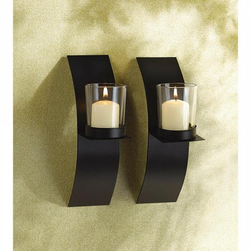 Accent Plus Mod-art Candle Sconce Duo