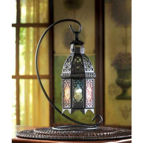 Accent Plus Rainbow Moroccan Lantern Stand
