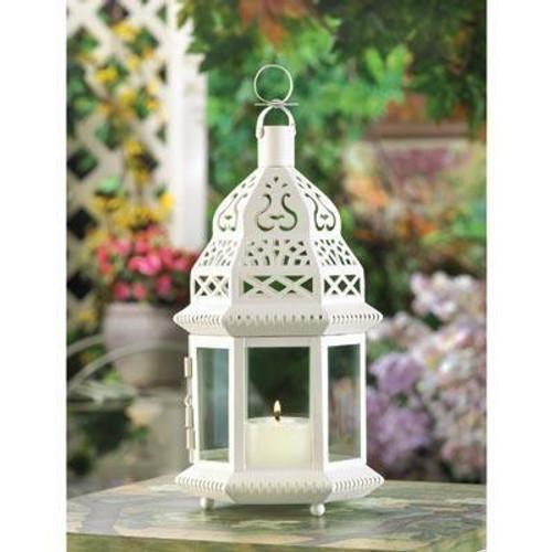 Accent Plus White Moroccan Lantern - D1064
