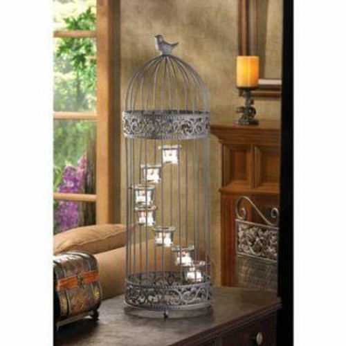 Accent Plus Birdcage Staircase Candle Stand