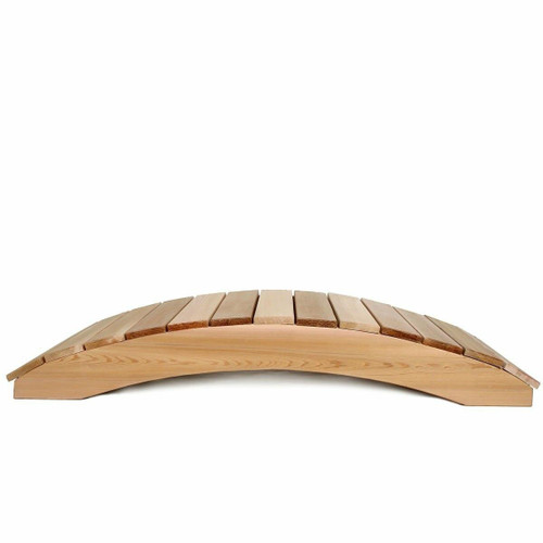FastFurnishings 4-Ft Garden Bridge in Western Red Cedar - Holds up to 800 lbs