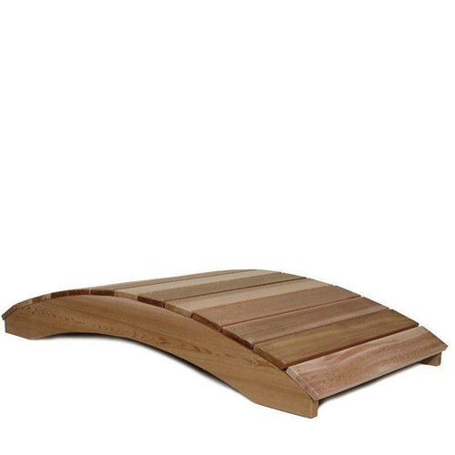 FastFurnishings 8-Ft Garden Bridge in Western Red Cedar - Natural Unstained Finish