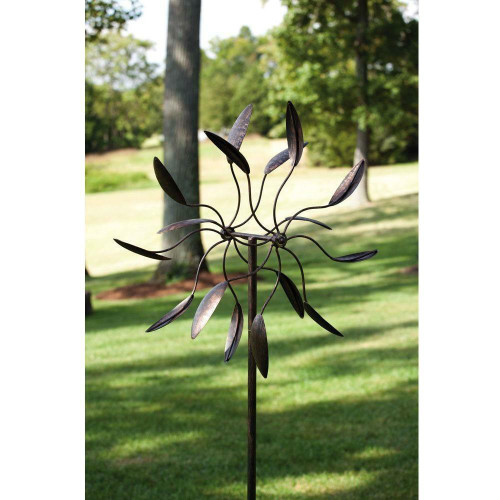 FastFurnishings Spinning Metal Outdoor Garden Art Wind Spinner