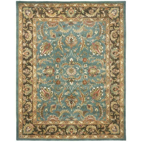 FastFurnishings Handmade Heritage Blue/ Brown Wool Rug 83 x 11