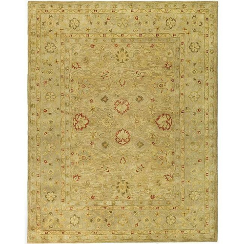 FastFurnishings Handmade Majesty Light Brown/ Beige Wool Rug 96 x 136