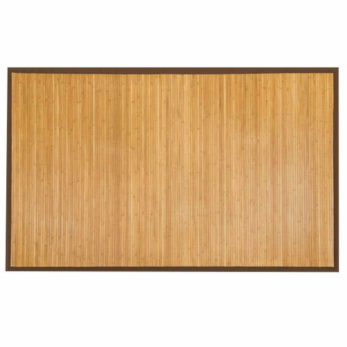 FastFurnishings 5 x 8 Indoor/Outdoor 100percent Bamboo Area Rug Floor Carpet