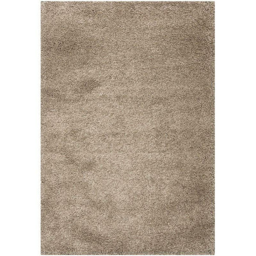 FastFurnishings 67 x 96 Hand-Tufted Plush Taupe Area Rug