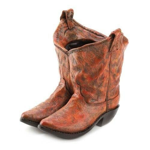 Accent Plus Old West Cowboy Boots Garden Planter