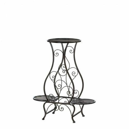 Summerfield Terrace Hourglass Iron Plant Stand For Three Plants
