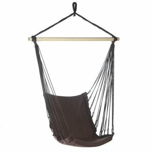 Accent Plus Espresso Cotton Padded Swing Chair