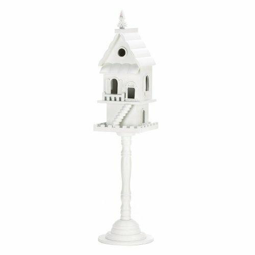Songbird Valley Two Story Standing White Birdhouse